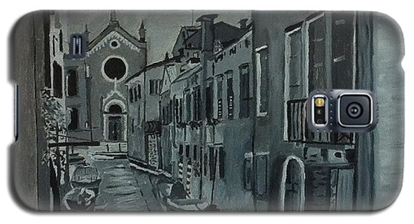 Galaxy S5 Case featuring the painting Venice In Grey And White by Rod Jellison