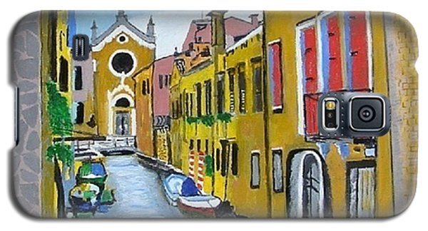 Galaxy S5 Case featuring the painting Venice In September by Rod Jellison