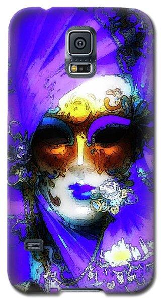 Venice Purple Carnival Mask Galaxy S5 Case