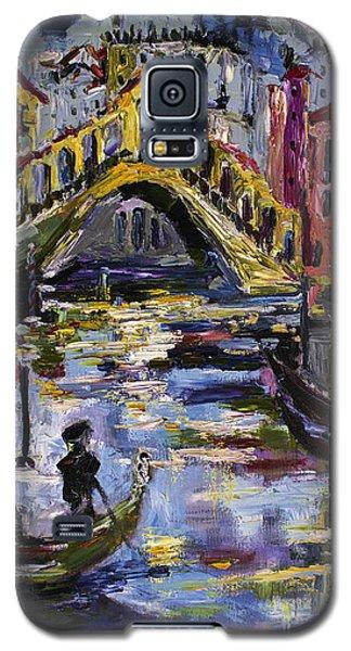 Venice Rialto Bridge Gondolier Oil Painting  Galaxy S5 Case