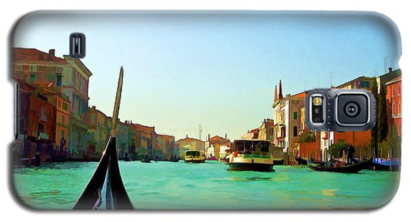 Galaxy S5 Case featuring the photograph Venice Waterway by Roberta Byram
