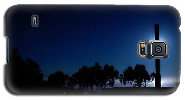 Ventura Ca Cross At Moonset Galaxy S5 Case