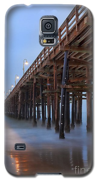 Galaxy S5 Case featuring the photograph Ventura Ca Pier At Dawn by John A Rodriguez