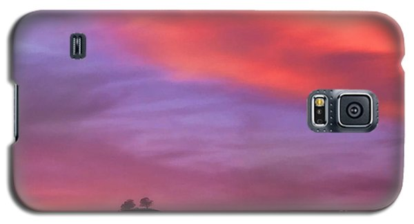 Galaxy S5 Case featuring the photograph Ventura Ca Two Trees At Sunset by John A Rodriguez