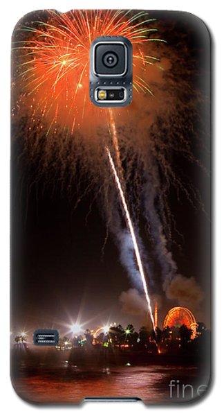 Galaxy S5 Case featuring the photograph Ventura California Fair Fireworks by John A Rodriguez