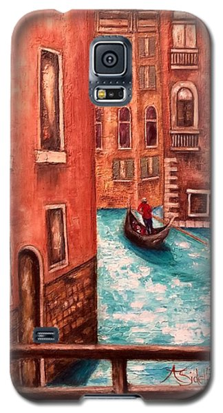 Galaxy S5 Case featuring the painting Venice by Annamarie Sidella-Felts