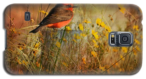 Vermilion Flycatcher At St. Marks Galaxy S5 Case
