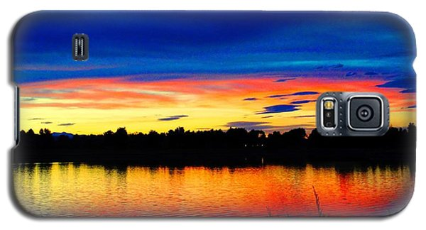 Galaxy S5 Case featuring the photograph Vermillion Sunset by Eric Dee
