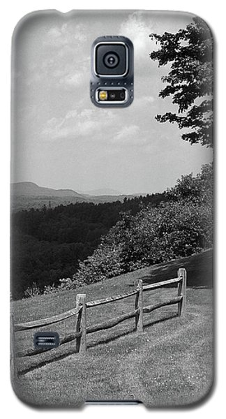 Galaxy S5 Case featuring the photograph Vermont Countryside 2006 Bw by Frank Romeo
