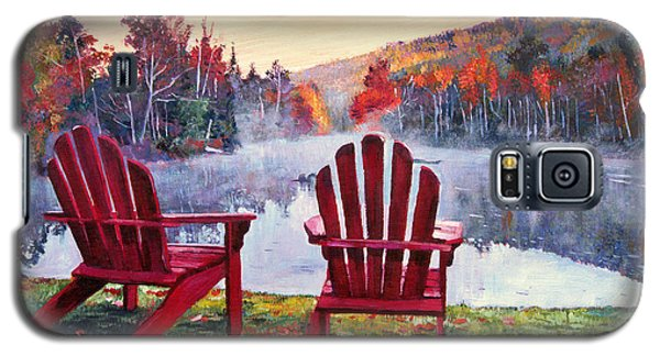 Galaxy S5 Case featuring the painting Vermont Romance by David Lloyd Glover