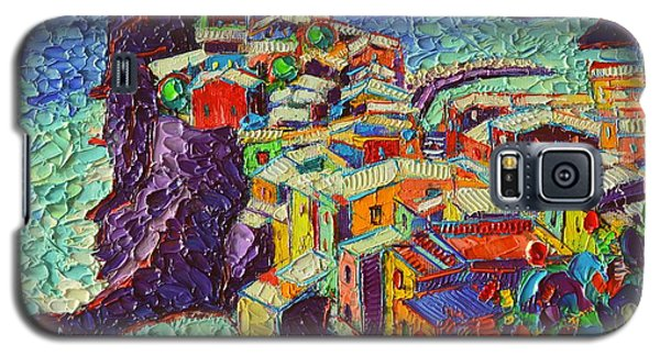 Vernazza Cinque Terre Italy 2 Modern Impressionist Palette Knife Oil Painting By Ana Maria Edulescu  Galaxy S5 Case