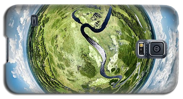 Galaxy S5 Case featuring the photograph Vernon Marsh Tiny Planet by Randy Scherkenbach