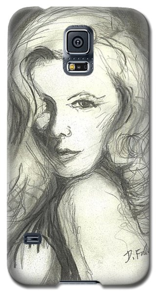 Galaxy S5 Case featuring the mixed media Veronica Lake by Denise Fulmer
