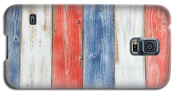 Vertical Stressed Boards Painted In Usa National Colors Galaxy S5 Case