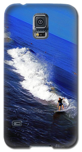 Surfer And Earths Curve  Galaxy S5 Case