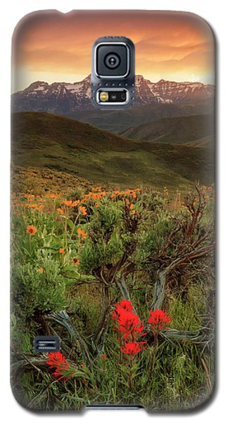 Vertical Timp With Wildflowers Galaxy S5 Case