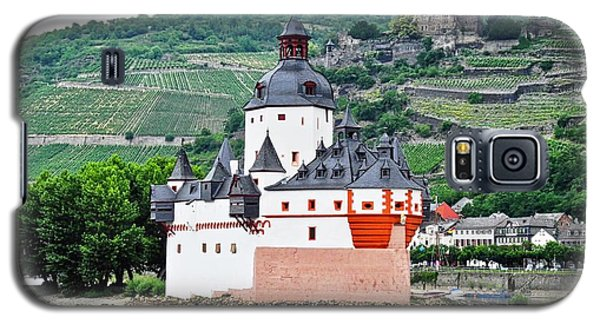 Galaxy S5 Case featuring the photograph Vertical Vineyards And Buildings On The Rhine by Kirsten Giving