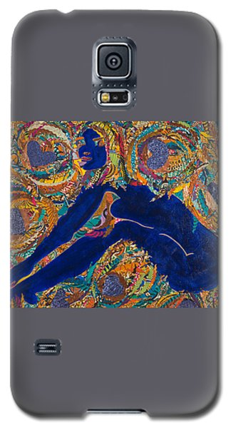 Galaxy S5 Case featuring the tapestry - textile Vesica  Pisces by Apanaki Temitayo M