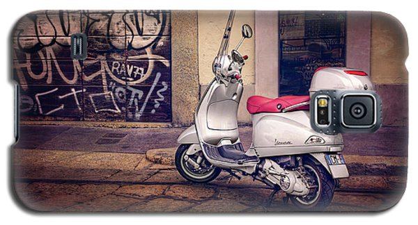 Galaxy S5 Case featuring the photograph Vespa Scooter In Milan Italy  by Carol Japp