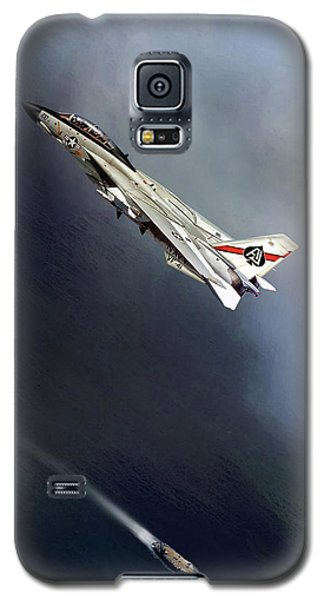 Vf-41 Black Aces Galaxy S5 Case by Peter Chilelli
