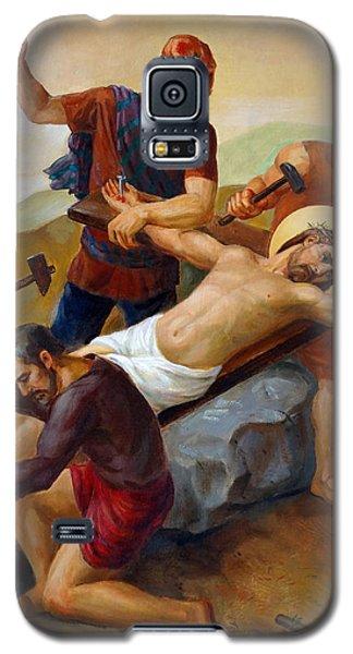 Via Dolorosa - Jesus Is Nailed To The Cross - 11 Galaxy S5 Case