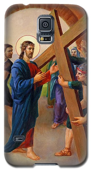 Via Dolorosa - Jesus Takes Up His Cross - 2 Galaxy S5 Case by Svitozar Nenyuk