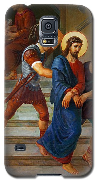 Galaxy S5 Case featuring the painting Via Dolorosa - Stations Of The Cross - 1 by Svitozar Nenyuk