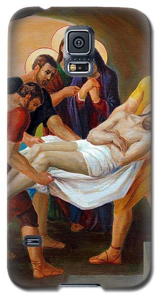 Galaxy S5 Case featuring the painting  Via Dolorosa - The Way Of The Cross - 14 by Svitozar Nenyuk