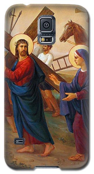 Galaxy S5 Case featuring the painting Via Dolorosa - The Way Of The Cross - 4 by Svitozar Nenyuk