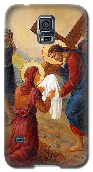 Galaxy S5 Case featuring the painting Via Dolorosa - Veil Of Saint Veronica - 6 by Svitozar Nenyuk