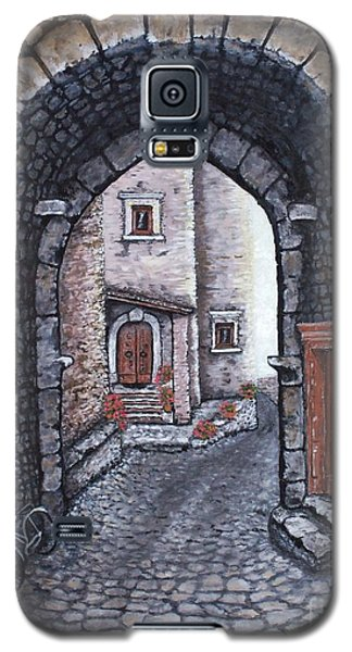 Galaxy S5 Case featuring the painting Via In Santo Stefano by Judy Kirouac