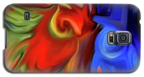 Vibrant Abstract Color Strokes Galaxy S5 Case