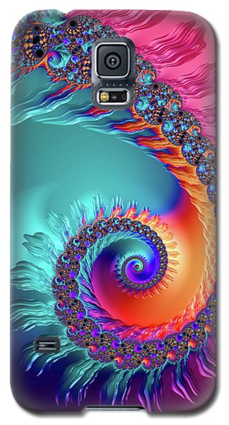 Vibrant And Colorful Fractal Spiral  Galaxy S5 Case