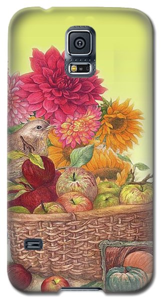Vibrant Fall Florals And Harvest Galaxy S5 Case
