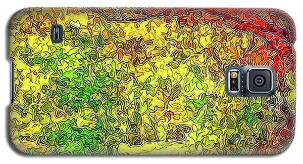 Galaxy S5 Case featuring the digital art Vibrant Garden Pathway - Santa Monica Mountains Trail by Joel Bruce Wallach