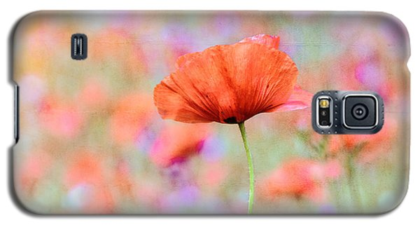 Galaxy S5 Case featuring the photograph Vibrant Poppies In A Field by Marion McCristall