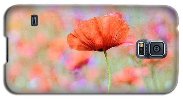 Vibrant Poppies In A Field Galaxy S5 Case by Marion McCristall
