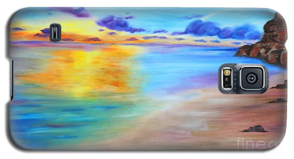 Rocky Sunset Shore Galaxy S5 Case