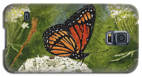 Viceroy Butterfly On Queen Anne's Lace Watercolor Batik Galaxy S5 Case