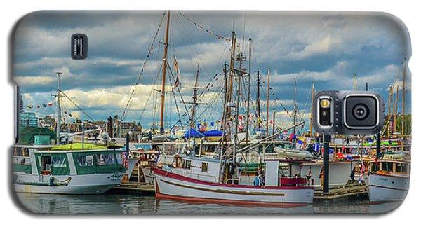 Victoria Harbor Boats Galaxy S5 Case