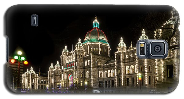 Victoria Parliament Buildings At Night At Christmas Galaxy S5 Case