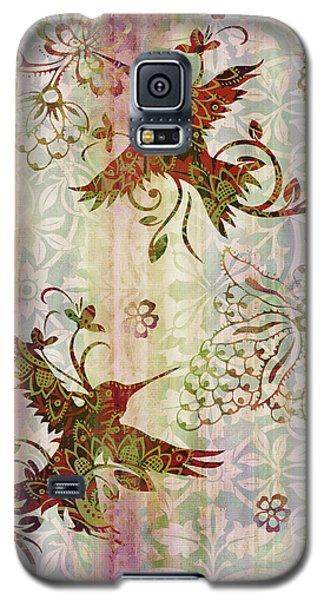 Victorian Humming Bird Pink Galaxy S5 Case