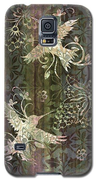 Victorian Hummingbird Green Galaxy S5 Case