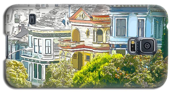 Victorian Painted Ladies Houses In San Francisco California Galaxy S5 Case