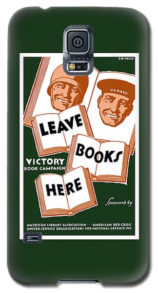 School Galaxy S5 Case - Victory Book Campaign - Wpa by War Is Hell Store