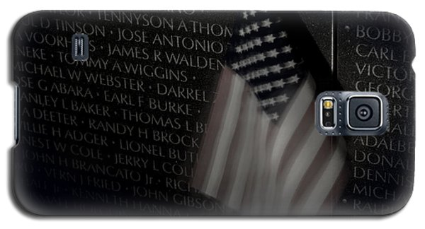 Vietnam Memrial Wall With Us Flag Galaxy S5 Case