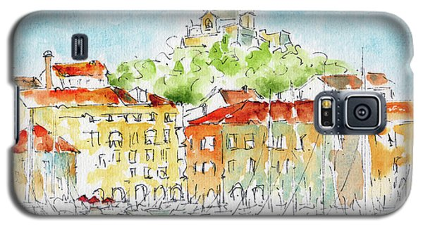 Galaxy S5 Case featuring the painting Vieux Port Marseille by Pat Katz