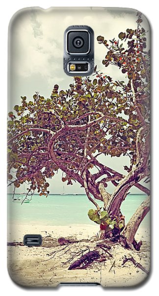 View At The Ocean With Boats In The Water Galaxy S5 Case