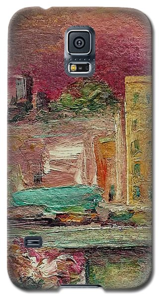 Galaxy S5 Case featuring the painting View From A Balcony by Mary Wolf