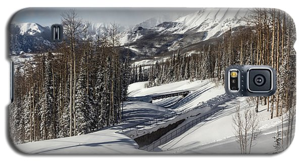 Galaxy S5 Case featuring the photograph View From A Mountain Above Telluride In Colorado by Carol M Highsmith